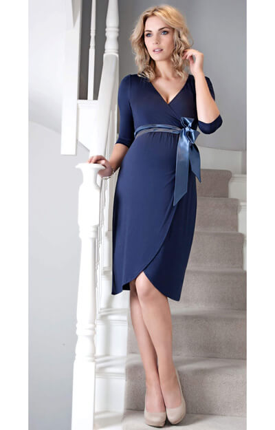 Tulip Maternity Dress (Bijou Blue) by Tiffany Rose