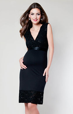 Twilight Lace Maternity Dress (Black)