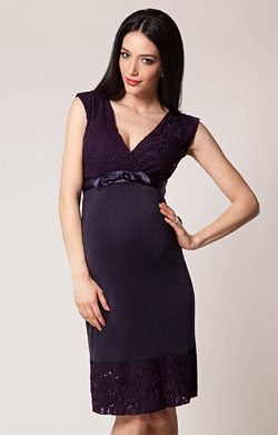 Twilight Lace Maternity Dress (Blackberry)
