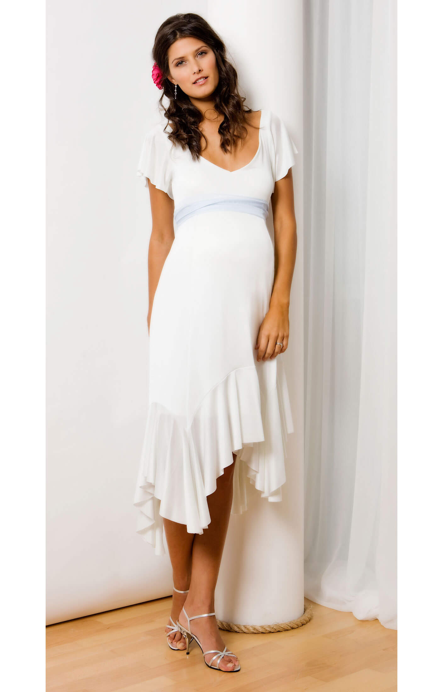 Valencia Maternity Dress (White) - Maternity Wedding Dresses ...