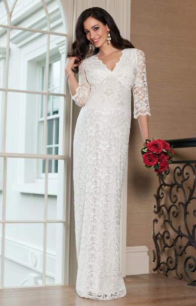 Valentina Maternity Wedding Dress (Long) Ivory by Tiffany Rose