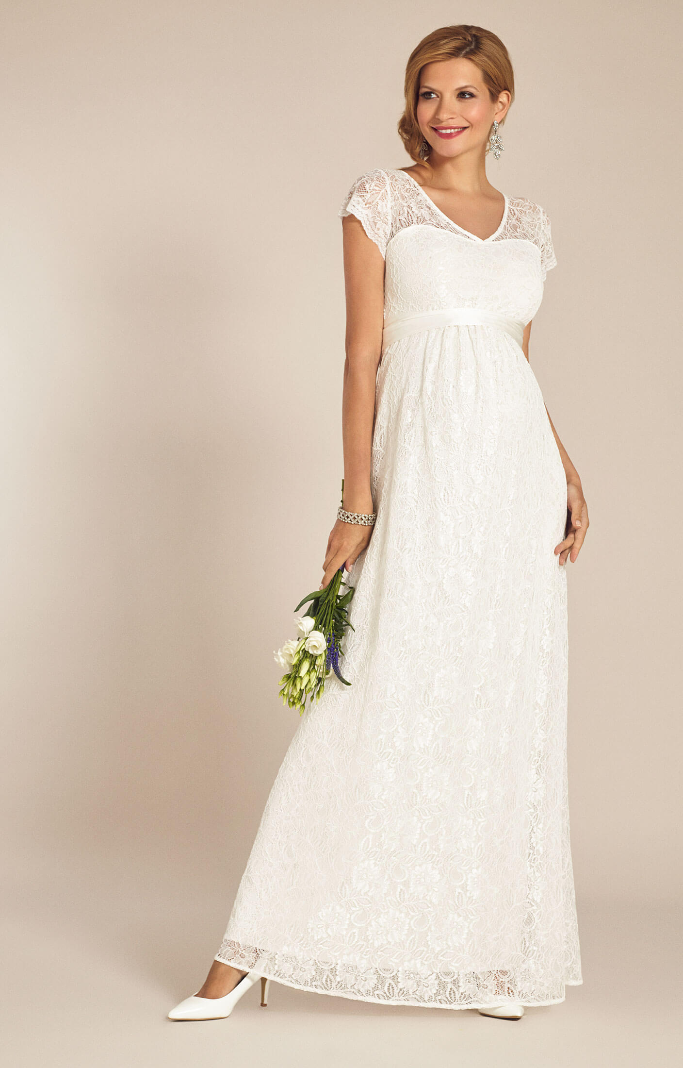 Vanessa Maternity Wedding Gown Long Ivory - Maternity Wedding ...