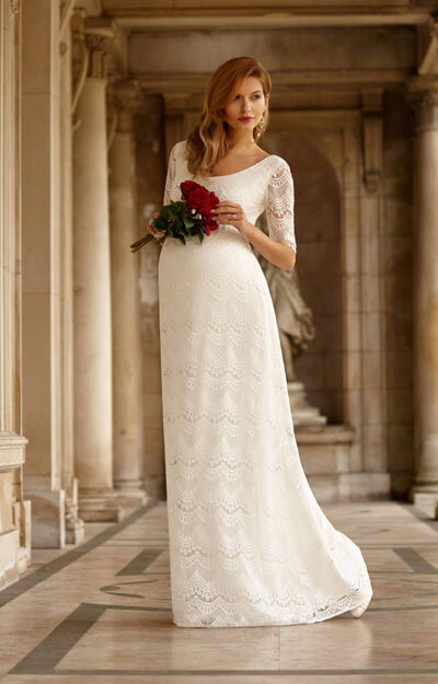 Verona Maternity Wedding Gown (Ivory) by Tiffany Rose