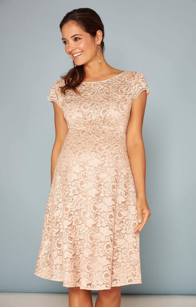 Viola Maternity Lace Dress in Blush by Tiffany Rose
