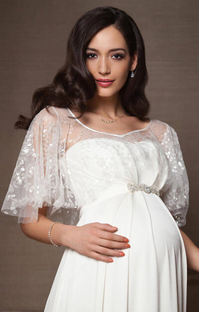 Vintage Maternity Bridal Cape (Ivory) by Tiffany Rose