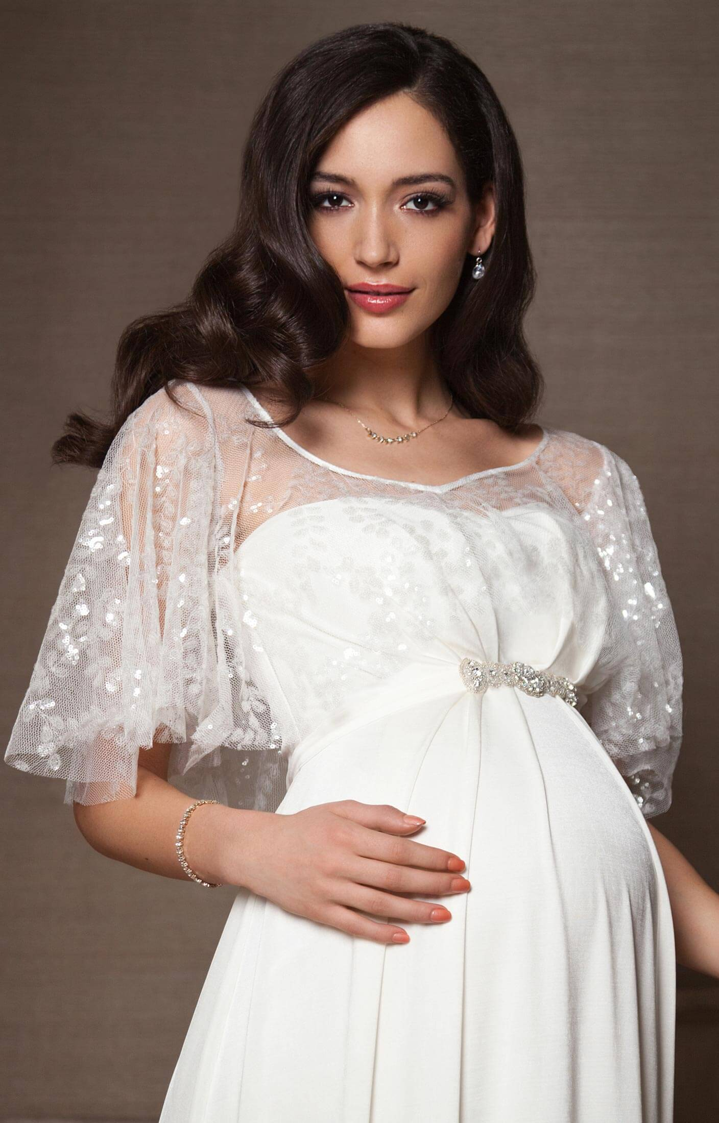 vintage maternity bridal cape ivory maternity wedding