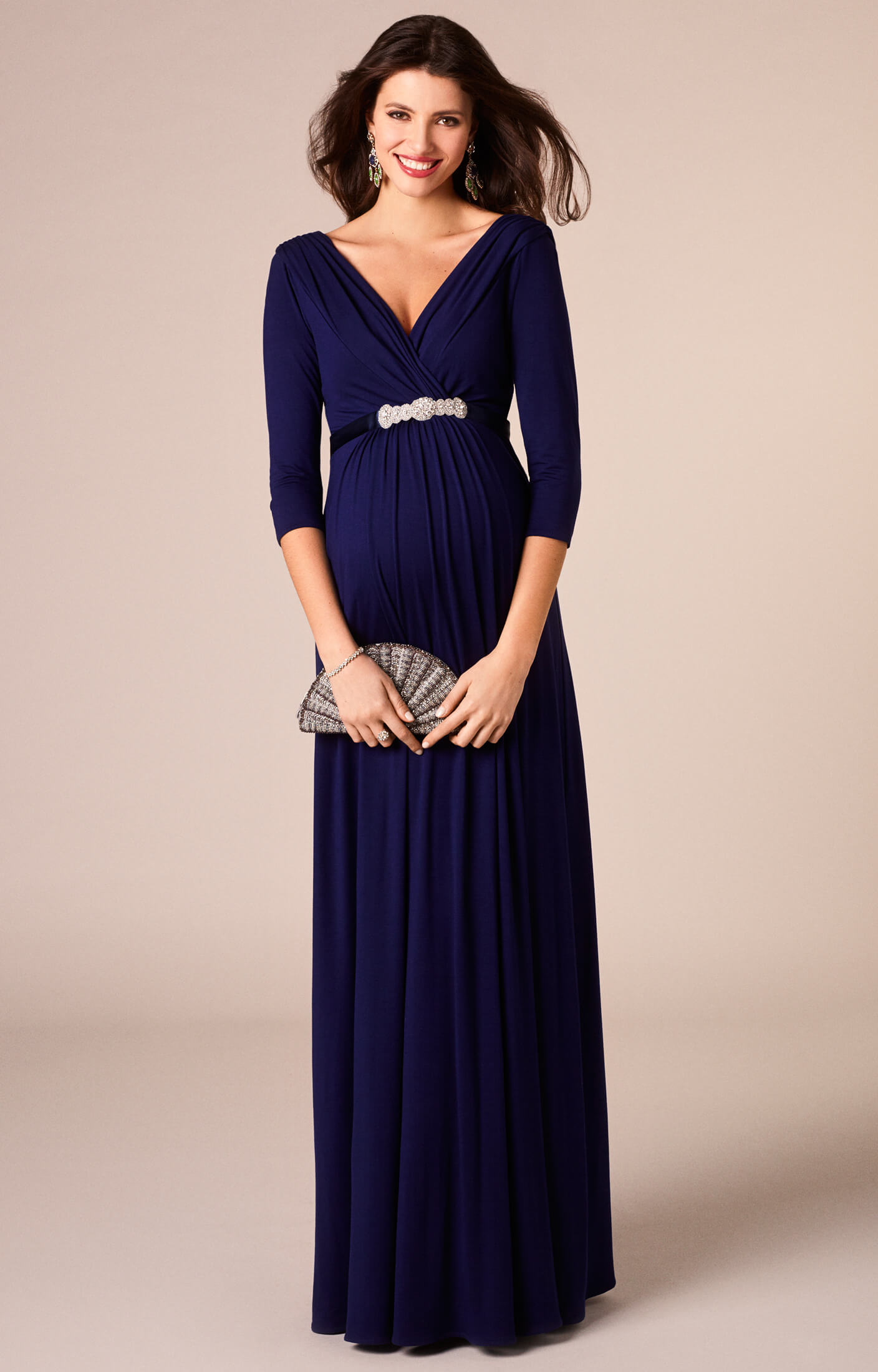 Willow Maternity Gown Long Eclipse Blue - Maternity Wedding Dresses ...