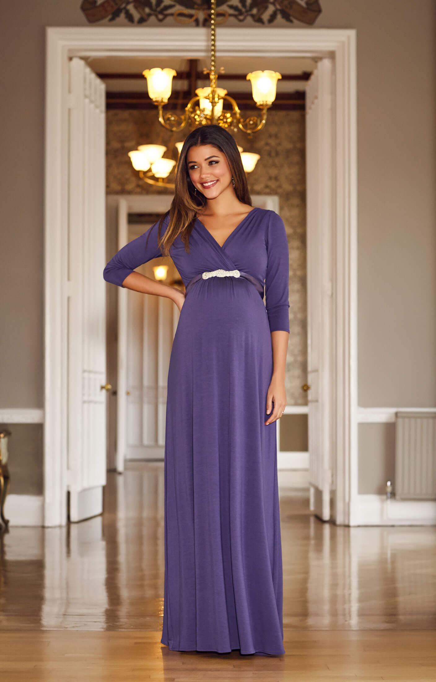 Willow Maternity Gown Long Grape - Maternity Wedding Dresses ...