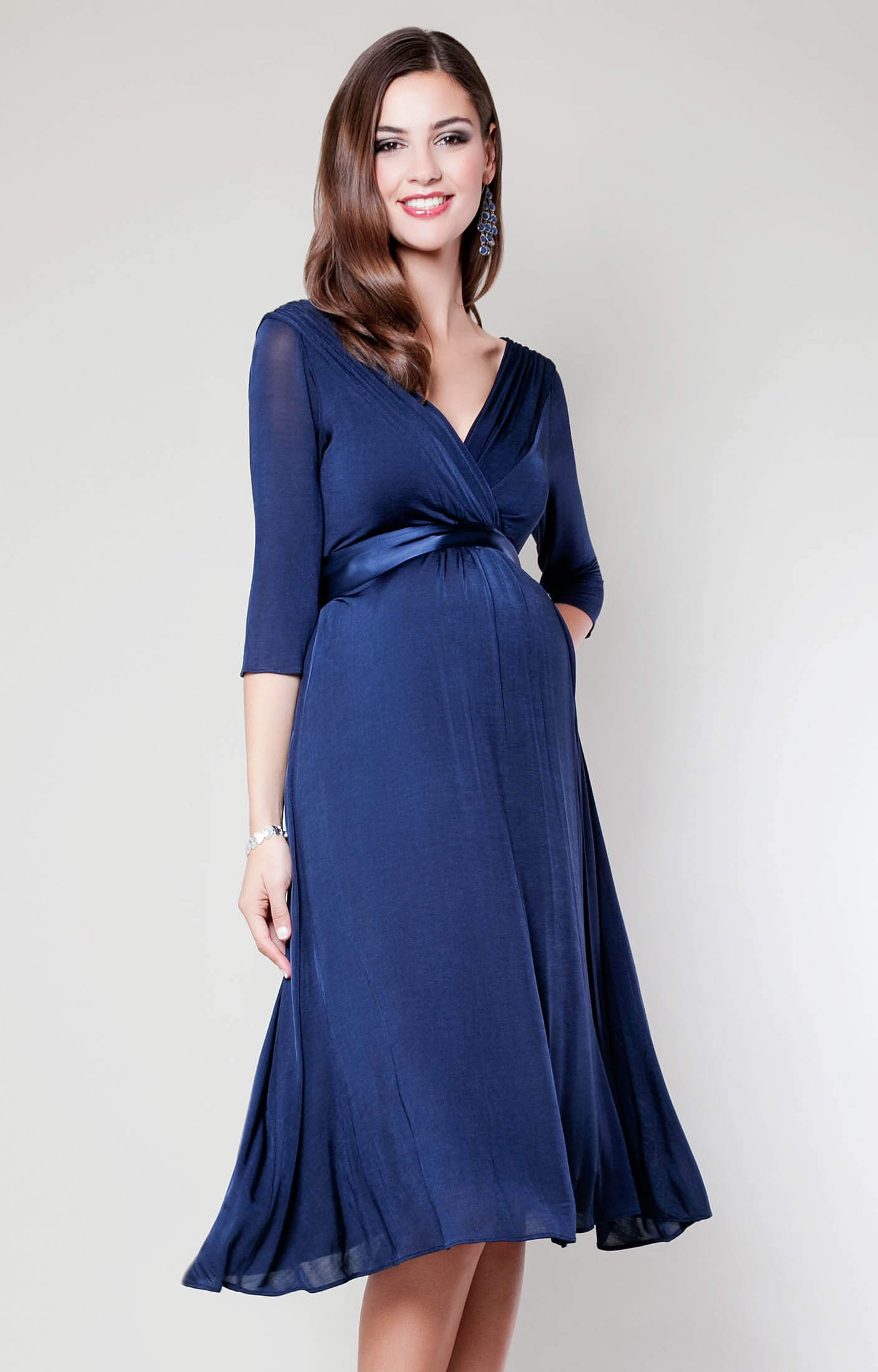 Willow maternity dress midnight blue maternity wedding for Blue dresses to wear to a wedding