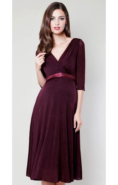Willow Maternity Dress (Deep Claret) by Tiffany Rose
