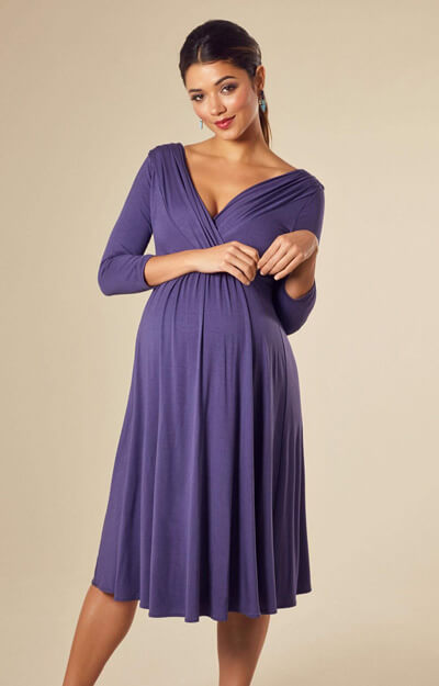 Willow Maternity Dress Short Grape by Tiffany Rose