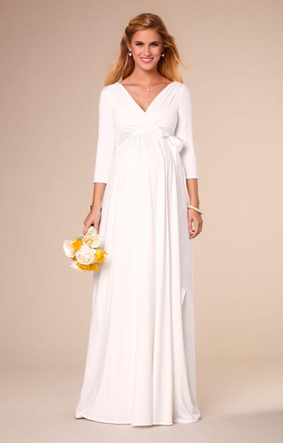 Willow Maternity Wedding Gown Long Ivory by Tiffany Rose