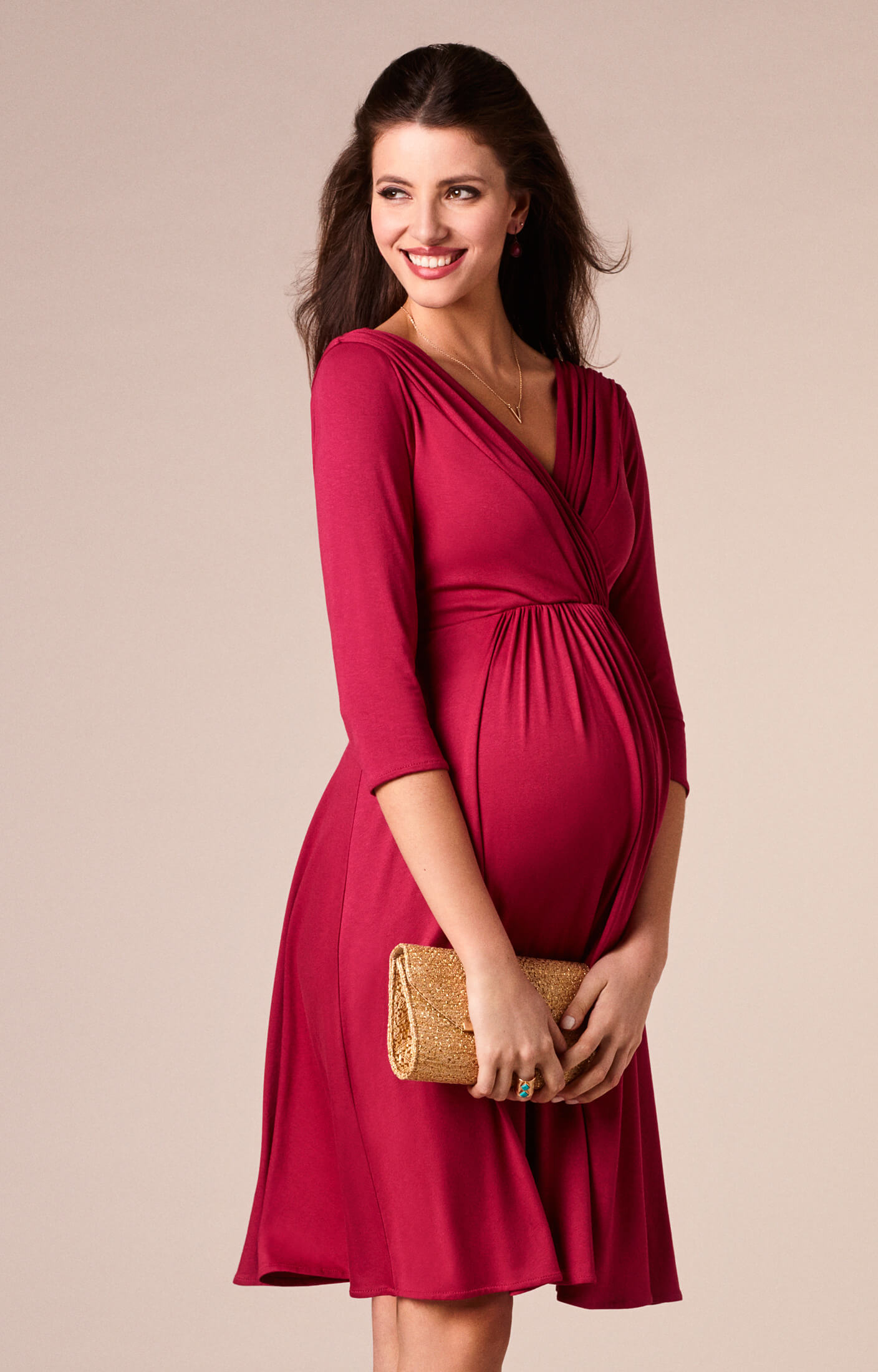 Willow Maternity Dress Raspberry Pink - Maternity Wedding Dresses ...