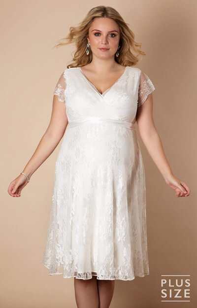Eden Gown Short Plus Size Maternity Wedding Dress by Tiffany Rose