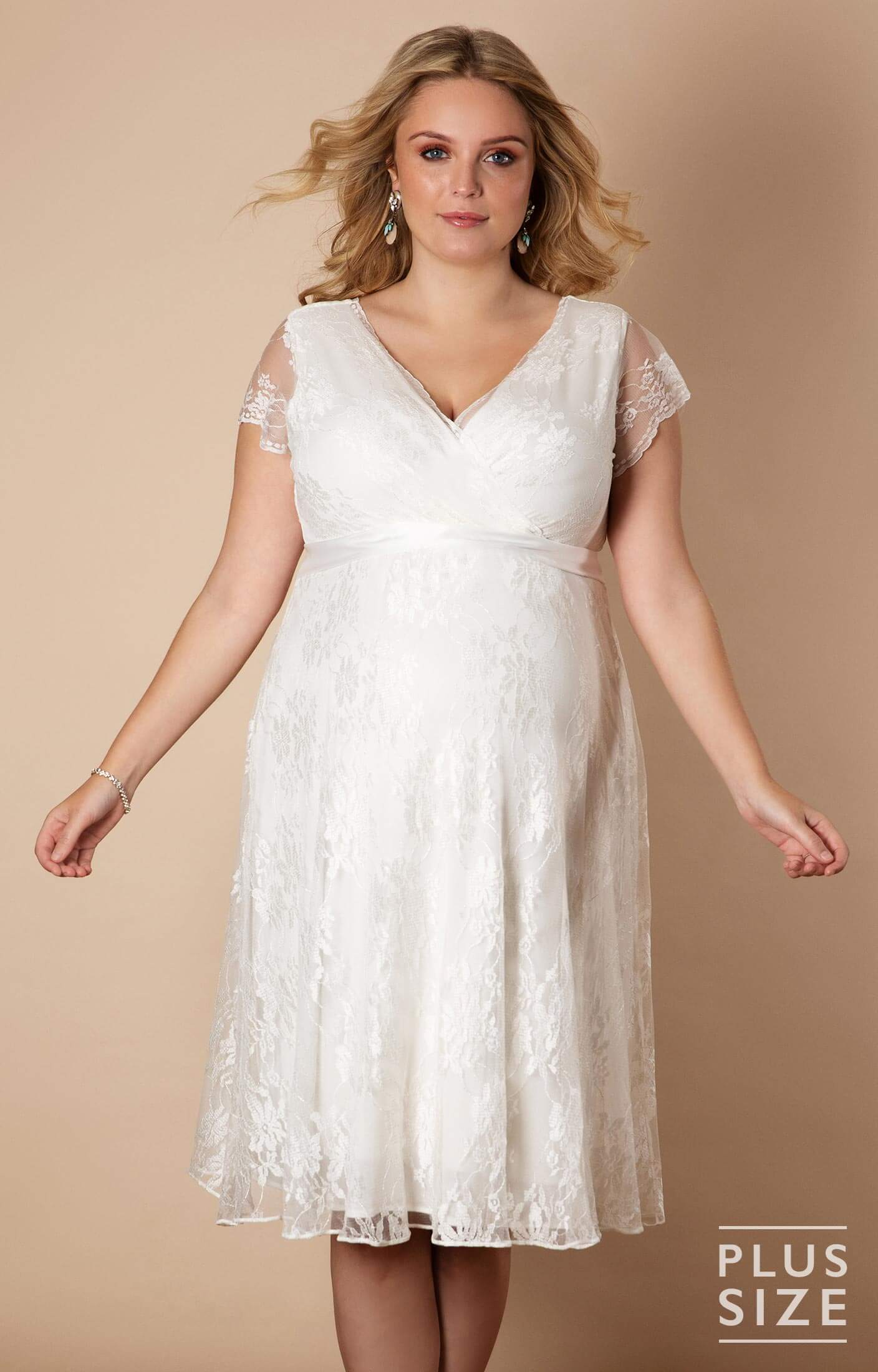 Eden Gown Short Plus Size Maternity Wedding Dress - Maternity Wedding  Dresses, Evening Wear and Party Clothes by Tiffany Rose