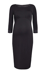 Adele Maternity Sequin Shift Dress Black