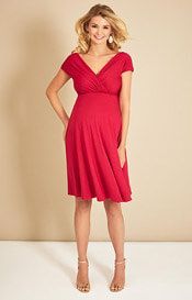 Alessandra Maternity Dress Short Bright Rose