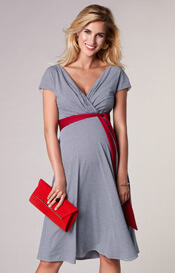 Alessandra Maternity Dress Short Cruise Stripe