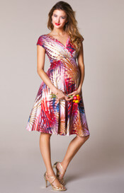 Alessandra Maternity Dress Short Hot Tropics
