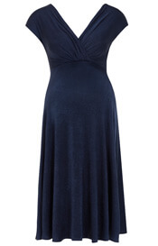 Alessandra Maternity Dress Short Navy