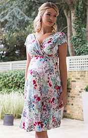 Alessandra Maternity Dress Short Poppy