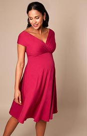Alessandra Maternity Dress Short Rich Raspberry Pink