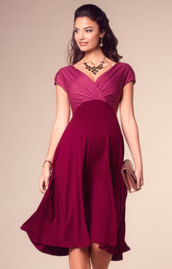 Alessandra Maternity Dress Short Rosey Red