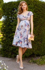 Alessandra Maternity Dress Short Vintage Bloom