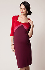 Alexa Maternity Dress Lipstick Rouge