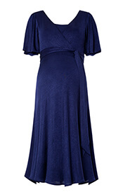 Alicia Nursing Dress Eclipse Blue