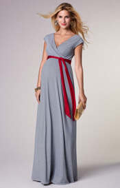 Alana Maternity Maxi Dress Cruise Stripe