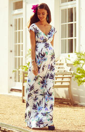 Alana Maternity Maxi Dress Inky Tropics