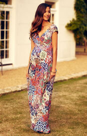 Alana Maternity Maxi Dress Moroccan Print