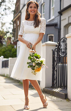 Alaska Maternity Silk Chiffon Wedding Dress Ivory