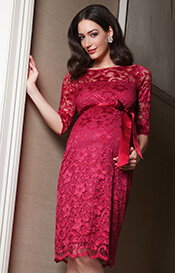 Amelia Maternity Dress Bright Rose