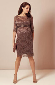 Amelia Maternity Dress Short Chocolate Dream