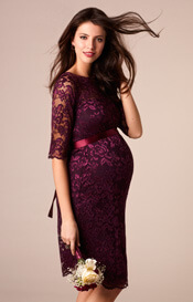 Amelia Maternity Dress Short Claret