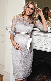 Amelia Maternity Dress Short (Silver Moonbeam)