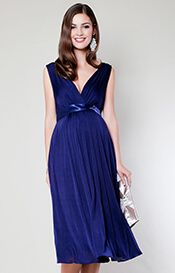 Anastasia Maternity Dress Short (Eclipse Blue)