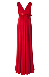 Anastasia Maternity Gown Long Sunset Red