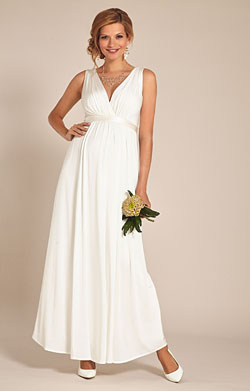 Anastasia Maternity Wedding Gown (Ivory)