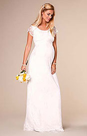 April Wedding Nursing Lace Gown Long Ivory