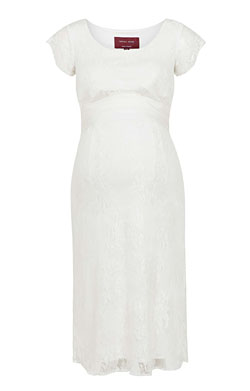 April Wedding Nursing Lace Dress Ivory