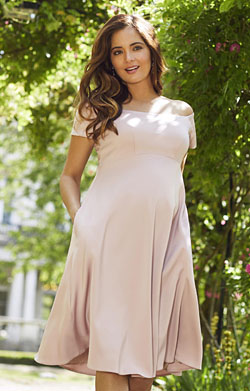 Aria Maternity Dress Mellow Rose Pink