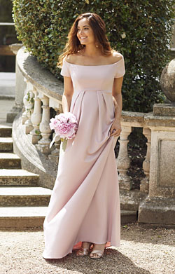 Aria Maternity Gown Mellow Rose Pink