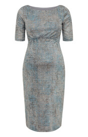 Anna Maternity Shift Dress Bronze Blue