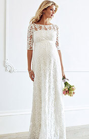 Asha Maternity Wedding Gown Ivory