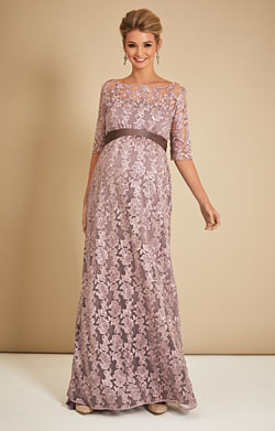 Asha Maternity Lace Gown in Lilac