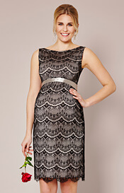 Audrey Shift Maternity Dress (Black)