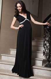 Aurora Maternity Gown Long Black